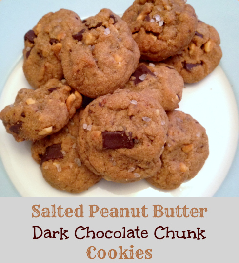 Salted Peanut Butter Dark Chocolate Chunk Cookies | Butter And Sprinkles
