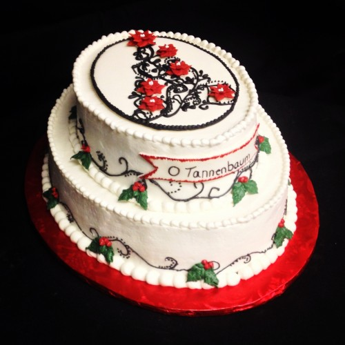 "Red Velvet ""O Tannenbaum"" Cake 