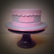 Pink and Grey Fondant Cake | Butter and Sprinkles